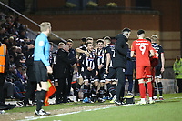 Grimsby's goalscorer Billy Clarke celebrates after scoring the opener after lobbing O's keper Sam Sargeant during Leyton Orient vs Grimsby Town, Sky Bet EFL League 2 Football at The Breyer Group Stadium on 11th January 2020
