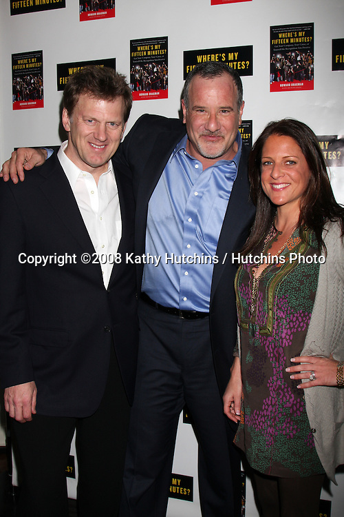 """Howard Bragman & Guest.Howard Bragman's Book Party for """"Where's My Fifteen Minutes"""" at the Chateau Marmont Hotel in West Los Angeles, CA on .January 14, 2009.©2008 Kathy Hutchins / Hutchins Photo..                ."""