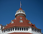 Famous pergola structure of the Hotel Del Coronado in San Diego.