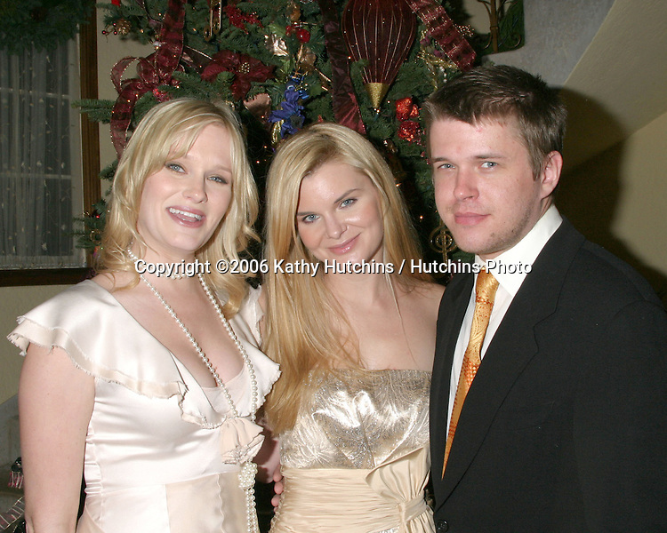Nicholle Tom,  Heather Tom, and David Tom.Annual Christmas Party.Heather Tom's House.Glendale, CA.December 16,  2006.©2006 Kathy Hutchins / Hutchins Photo....