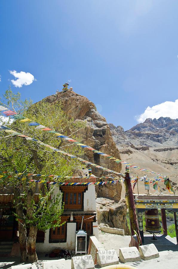 Chamba Gompa, along the Srinagar to Leh road. Mulbekh, Ladakh, India.