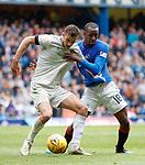 28.04.2019 Rangers v Aberdeen: Dom Ball and Glen Kamara