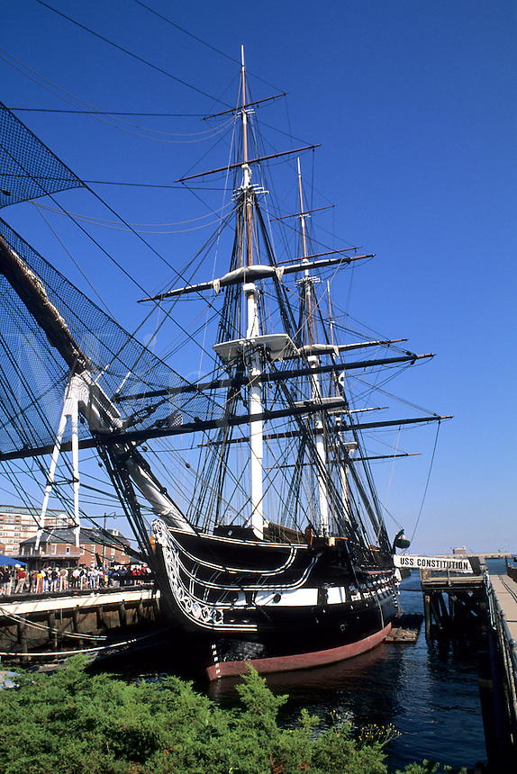 Boston Massachusetts MA USA Freedom Trail USS Constitution Old Ironside famous ship