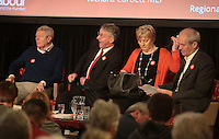 Other speakers including Alan Johnson and Hilary Benn  at a Labour Party meeting in Sheffield, United Kingdom on 27 February 2016. Photo by Glenn Ashley/glennashley.org