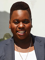 "WESTWOOD, LOS ANGELES, CA, USA - MAY 03: Alex Newell at the Los Angeles Premiere Of ""Legends Of Oz: Dorthy's Return"" held at the Regency Village Theatre on May 3, 2014 in Westwood, Los Angeles, California, United States. (Photo by Celebrity Monitor)"