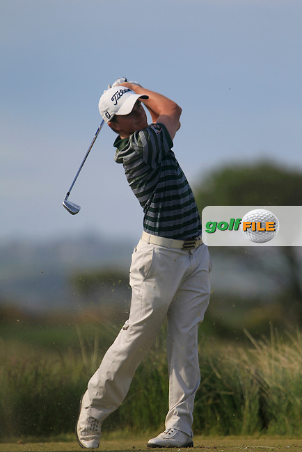 Paul Dunne (Greystones) during the 4th round of the East of Ireland Amateur Open Championship 2013 Co Louth Golf club 3/6/13<br /> Picture:  Thos Caffrey / www.golffile.ie
