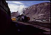 D&amp;RGW #476 K-28 with excursion coaches at Durango station.<br /> D&amp;RGW  Durango, CO