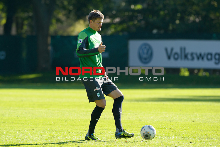 30.09.2013, Trainingsgelaende, Bremen, GER, 1.FBL, Training Werder Bremen, im Bild Sebastian Pr&ouml;dl / Proedl (Bremen #15)<br /> <br /> Foto &copy; nph / Frisch