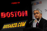 U.S. Soccer President and USA Bid Committee Chairman Sunil Gulati announces Boston as one of the 18 cities to be submitted to FIFA as part of the bid to host the 2018 or 2022 FIFA World Cup at the ESPN Zone in Times Square, NYC, NY, on January 12, 2010.