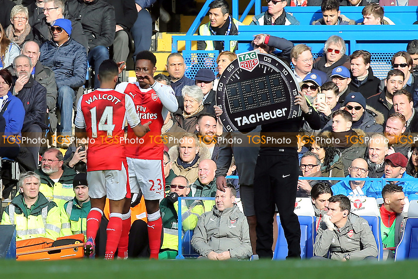 Arsenal's Danny Welbeck replaces Theo Walcott in the second half during Chelsea vs Arsenal, Premier League Football at Stamford Bridge on 4th February 2017