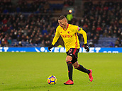 9th December 2017, Turf Moor, Burnley, England; EPL Premier League football, Burnley versus Watford; Richarlison of Watford runs the ball down the wing