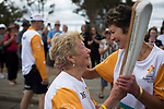 Batonbearer June Humphries passing the Baton to Janine Determes as the Queen's Baton Relay visited Albany. From 25 January to 2 March 2018, the Queen's Baton will visit every other state and territory before Queensland. As the Queen's Baton Relay travels the length and breadth of Australia, it will not just pass through, but spend quality time in each community it visits, calling into hundreds of local schools and community celebrations in every state and territory. The Gold Coast 2018 Commonwealth Games (GC2018) Queen's Baton Relay is the longest and most accessible in history, travelling through the Commonwealth for 388 days and 230,000 kilometres. After spending 100 days being carried by approximately 3,800 batonbearers in Australia, the Queen's Baton journey will finish at the GC2018 Opening Ceremony on the Gold Coast on 4 April 2018.