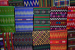 Traditional cloth hand woven in Kalay, a town in Myanmar.