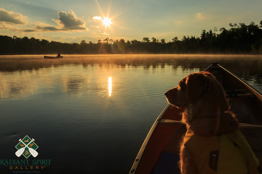 &quot;Canoe Country Golden Radiance&quot;<br /> Daybreak in the wilderness inspires gratitude and an eagerness to begin another day of paddling. Amidst the serenity, the birds awaken in cheerful song, the loon calls echo across the waters, and the lakes beckon our canoes to another day of adventures.