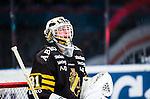Stockholm 2014-01-18 Ishockey SHL AIK - F&auml;rjestads BK :  <br /> AIK:s m&aring;lvakt Daniel Larsson <br /> (Foto: Kenta J&ouml;nsson) Nyckelord:  portr&auml;tt portrait