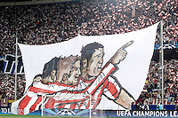 Atletico de Madrid's supporters during Champions League 2013/2014 match.March 11,2014. (ALTERPHOTOS/Acero)