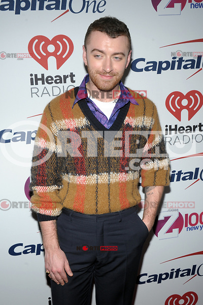 NEW YORK, NY - DECEMBER 8: Sam Smith at Z100's Jingle Ball 2017 at Madison Square Garden in New York City, Credit: John Palmer/MediaPunch /nortephoto.com NORTEPHOTOMEXICO