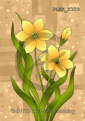 Kris, FLOWERS, paintings(PLKKK329,#F#) Blumen, flores, illustrations, pinturas ,everyday