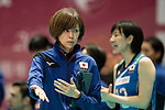Head coach Kumi Nakada of Japan during the FIVB Volleyball World Grand Prix match between Japan vs Russia on 23 July 2017 in Hong Kong, China. Photo by Marcio Rodrigo Machado / Power Sport Images