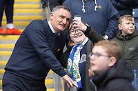 Blackburn Rovers manager Tony Mowbray poses for a photo with a fan ahead of kick-off<br /> <br /> Photographer Rich Linley/CameraSport<br /> <br /> The EFL Sky Bet Championship - Blackburn Rovers v Preston North End - Saturday 9th March 2019 - Ewood Park - Blackburn<br /> <br /> World Copyright © 2019 CameraSport. All rights reserved. 43 Linden Ave. Countesthorpe. Leicester. England. LE8 5PG - Tel: +44 (0) 116 277 4147 - admin@camerasport.com - www.camerasport.com