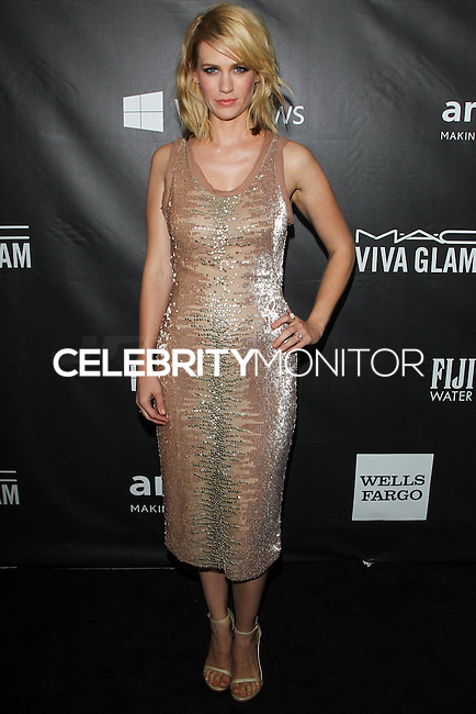 HOLLYWOOD, LOS ANGELES, CA, USA - OCTOBER 29: January Jones arrives at the 2014 amfAR LA Inspiration Gala at Milk Studios on October 29, 2014 in Hollywood, Los Angeles, California, United States. (Photo by Celebrity Monitor)