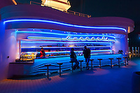 """The """"Currents"""" bar aboard the new Disney cruise ship """"Disney Dream"""" sailing between Florida and the Bahamas."""