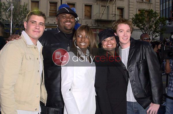 """Joshua Gracin, Ruben Studdard, Trenyce, Kimberley Locke and Clay Aiken of """"American Idol"""""""