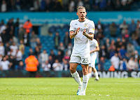 Leeds United's Kalvin Phillips applauds the fans after the match<br /> <br /> Photographer Alex Dodd/CameraSport<br /> <br /> The EFL Sky Bet Championship - Leeds United v Nottingham Forest - Saturday 10th August 2019 - Elland Road - Leeds<br /> <br /> World Copyright © 2019 CameraSport. All rights reserved. 43 Linden Ave. Countesthorpe. Leicester. England. LE8 5PG - Tel: +44 (0) 116 277 4147 - admin@camerasport.com - www.camerasport.com