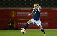20170411 - LEUVEN ,  BELGIUM : Scottish Fiona Brown pictured during the friendly female soccer game between the Belgian Red Flames and Scotland , a friendly game in the preparation for the European Championship in The Netherlands 2017  , Tuesday 11 th April 2017 at Stadion Den Dreef  in Leuven , Belgium. PHOTO SPORTPIX.BE | DAVID CATRY