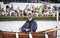 Henley-on-Thames. United Kingdom.  2017 Henley Royal Regatta, Henley Reach, River Thames. <br /> Actor and Rowing Enthusiast, Rodney BEWES.<br /> <br /> 10:08:42  Wednesday  28/06/2017<br /> <br /> [Mandatory Credit. Intersport Images].