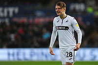 George Byers of Swansea City during the Sky Bet Championship match between Swansea City and Bolton Wanderers at the Liberty Stadium in Swansea, Wales, UK.  Saturday 02 March, 2019