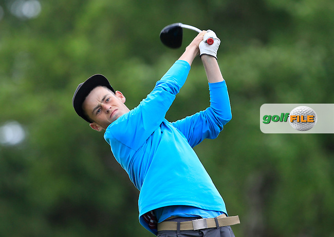 Stephen Kelliher (Killarney) on the 9th tee during Round 3 of the Irish Boys Amateur Open Championship at Tuam Golf Club on Thursday 25th June 2015.<br /> Picture:  Thos Caffrey / www.golffile.ie