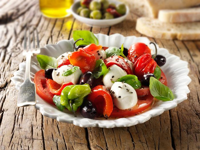 Buffalo mozerella and tomato salad