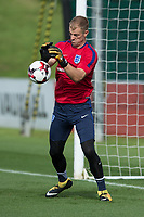 Joe Hart during the part open training session of the  England national football squad at St George's Park, Burton-Upon-Trent, England on 31 August 2017. Photo by James Williamson.