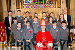 Kenmare Confirmation on Tuesday 27th in Holy Cross Church, Kenmare. <br /> Bishop - Ray Browne <br /> Principal - Denis Courtney <br /> Teacher - James Devane