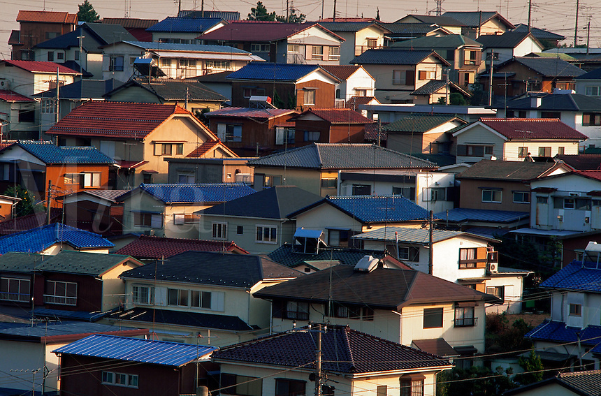 Residential housing, Tozuka district, Yokohama, Japan