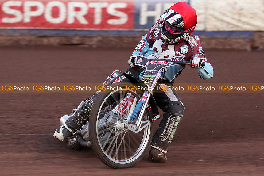 Heat 2: Rob Mear of Lakeside - Lakeside Hammers vs Swindon Robins - Elite League Speedway at Arena Essex Raceway - 12/08/11 - MANDATORY CREDIT: Gavin Ellis/TGSPHOTO - Self billing applies where appropriate - 0845 094 6026 - contact@tgsphoto.co.uk - NO UNPAID USE.