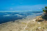 Maldives, Fenfushi Island, ocean reef.