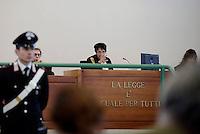 Roma, 24 Novembre 2015<br /> La Presidente Rosanna Ianniello.<br /> Aula bunker di Rebibbia<br /> Quarta udienza del processo Mafia Capitale,