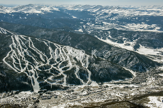 Keystone Ski Resort with Breckenridge in background