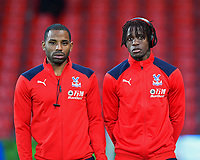 Jason Puncheon of Crystal Palace left and Wilfried Zaha of Crystal Palace during AFC Bournemouth vs Crystal Palace, Premier League Football at the Vitality Stadium on 1st October 2018