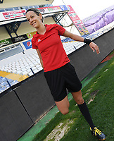 20190306 - LARNACA , CYPRUS : Croatian referee Ivana Martincic pictured during a women's soccer game between Slovakia and Hungary , on Wednesday 6 th March 2019 at the Antonis Papadopoulos stadium in Larnaca , Cyprus . This last game for both teams which decides for places 11 and 12 of the Cyprus Womens Cup 2019 , a prestigious women soccer tournament as a preparation on the Uefa Women's Euro 2021 qualification duels. PHOTO SPORTPIX.BE | DAVID CATRY