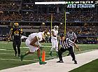 Oct. 5, 2013; TJ Jones (7) scores a touchdown late in the second quarter.<br /> <br /> Photo by Matt Cashore