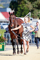 AUS-Sophie Adams with Umunga during the CCI2* First Horse Inspection at the 2016 AUS-Australian International 3DE. Wednesday 2 November. Photo Copyright: Libby Law Photography