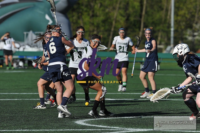 Mustang Women's lacrosse team defeated the Dutchmen of Lebanon Valley College in the Commonwealth Semi-finals 17-11 on Thursday evening at Mustang Stadium in Owings Mills to advance to the Championship game on Saturday.