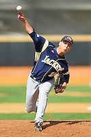 Georgia Tech Yellow Jackets relief pitcher Clay Dalton #15 in action against the Wake Forest Demon Deacons at Wake Forest Baseball Park on April 15, 2012 in Winston-Salem, North Carolina.  The Demon Deacons defeated the Yellow Jackets 11-3.  (Brian Westerholt/Four Seam Images)