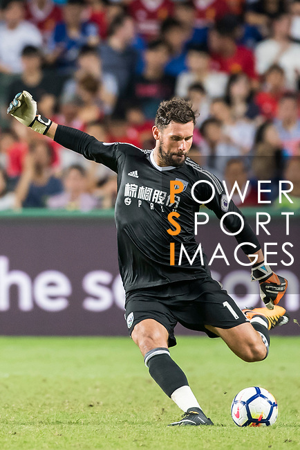 West Bromwich Albion goalkeeper Ben Foster in action during the Premier League Asia Trophy match between Leicester City FC and West Bromwich Albion at Hong Kong Stadium on 19 July 2017, in Hong Kong, China. Photo by Weixiang Lim / Power Sport Images