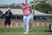 Grayson Murray (USA) watches his tee shot on 10 during Round 2 of the Valero Texas Open, AT&T Oaks Course, TPC San Antonio, San Antonio, Texas, USA. 4/20/2018.<br /> Picture: Golffile | Ken Murray<br /> <br /> <br /> All photo usage must carry mandatory copyright credit (© Golffile | Ken Murray)