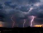 Lightning over Prescott, Arizona ©2018 James D Peterson.