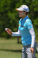 In Gee Chun (KOR) sinks her putt on 1 during round 1 of  the Volunteers of America LPGA Texas Classic, at the Old American Golf Club in The Colony, Texas, USA. 5/5/2018.<br /> Picture: Golffile | Ken Murray<br /> <br /> <br /> All photo usage must carry mandatory copyright credit (&copy; Golffile | Ken Murray)